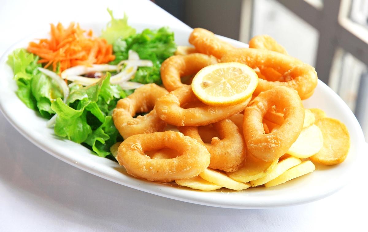 Вкуснейшие кольца кальмара в кляре