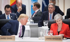 Trump lashes out at 'foolish' May as crisis over ambassador grows