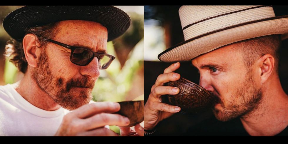Photo of Bryan Cranston and Aaron Paul Just Teamed Up to Make a Mezcal Called 'Dos Hombres'