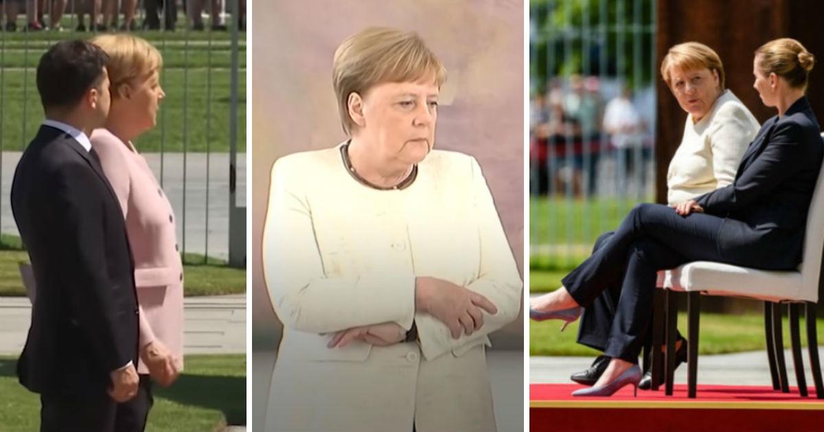 """Фото """"Я справлюсь"""". Что с Ангелой Меркель? Почему ее трясет?"""