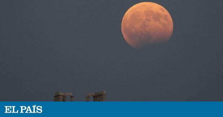 Photo of Eclipse lunar parcial no 50º aniversário da chegada à Lua