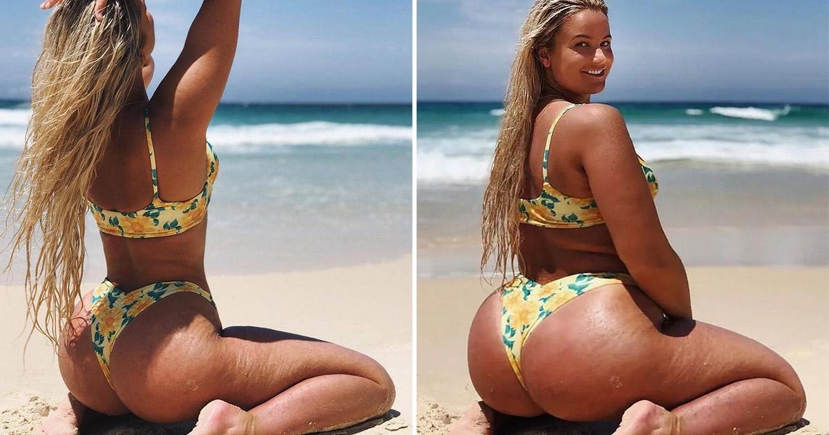 Дизайнер бикини Карина Ирби специально фотошопит себя в толстушку