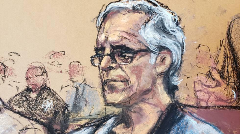 Photo of Jeffrey Epstein, hallado seminconsciente en su celda