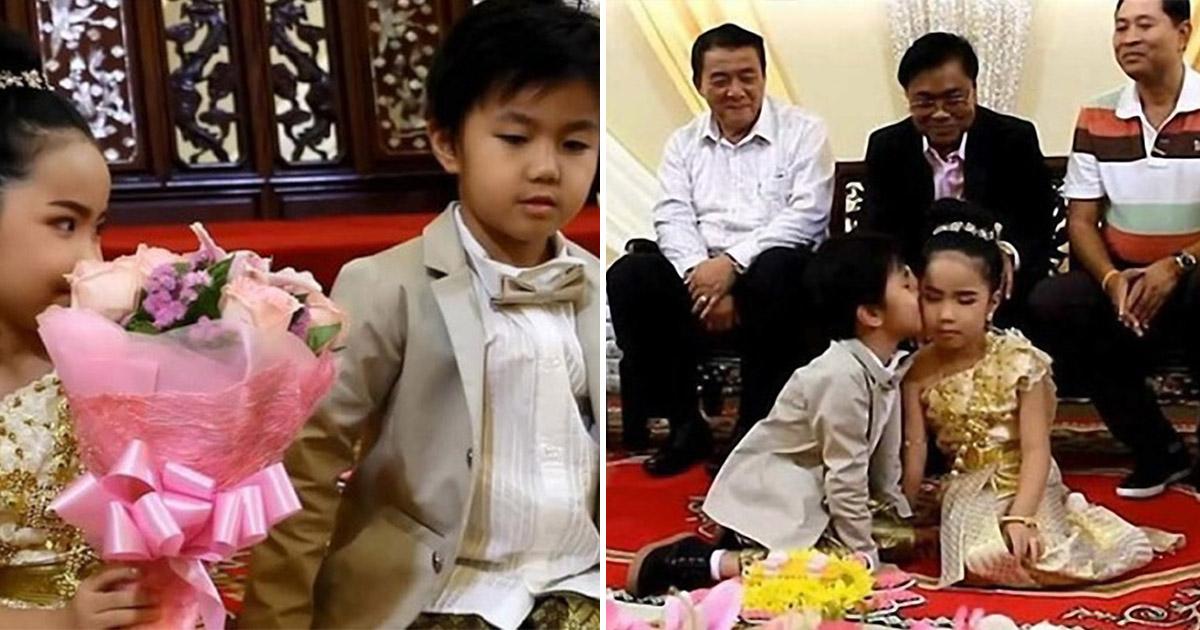 Традиция или дикость? В Таиланде поженили 6-летних брата и сестру
