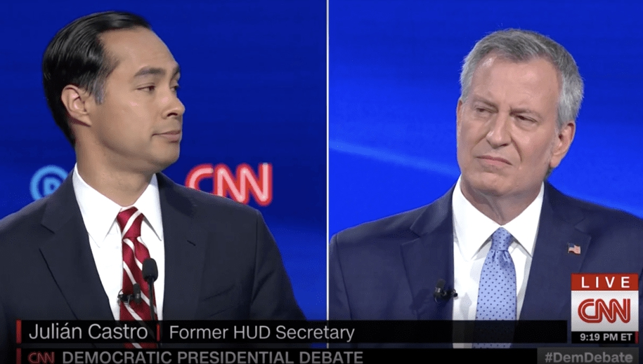Photo of Julián Castro gets loudest applause after calling out de Blasio's inaction on Eric Garner's death