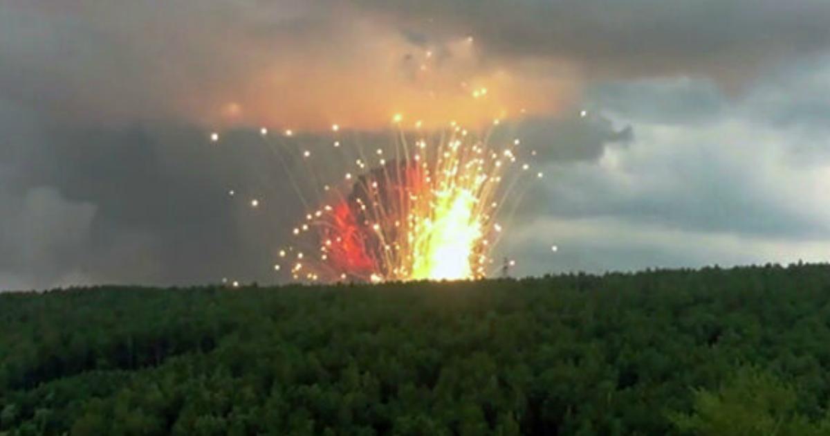Фото Нашли виноватых. Названа причина пожара на складе боеприпасов в Ачинском районе