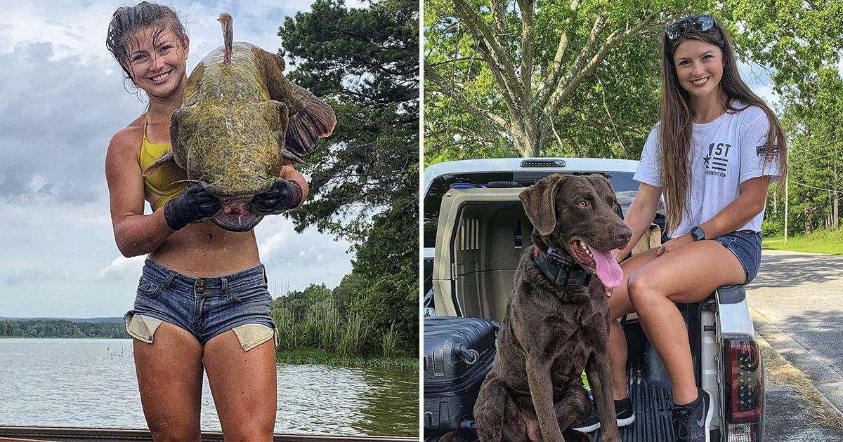 С голыми руками на рыбалку. Интернет восхищен смелой девушкой