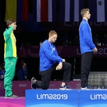 U.S. Fencer, Race Imboden, Takes a Knee at Pan-American Games