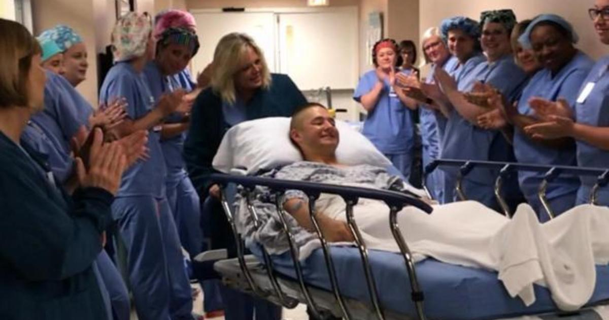 Photo of Hospital honors Marine who missed graduation for emergency surgery