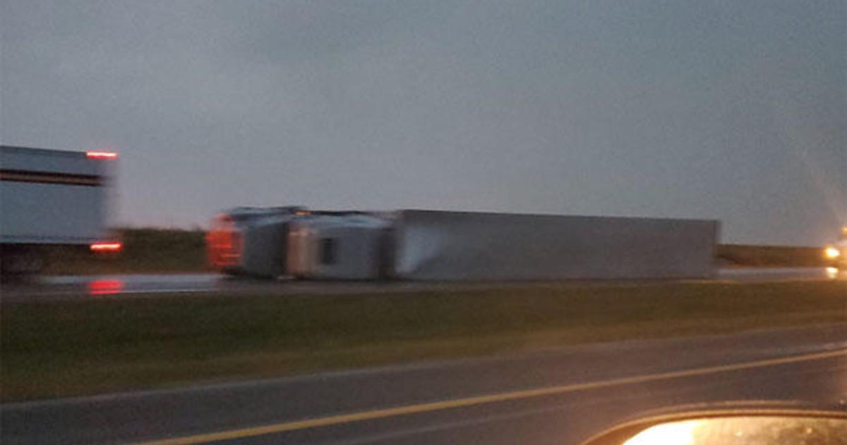 Photo of Strong winds blow over at least 20 semis in western Kansas