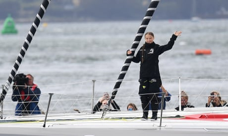 Photo of Greta Thunberg sets sail for New York on zero-carbon yacht