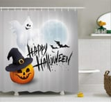 20 Halloween Shower Curtains That'll Either Make You Scream or Smile While Soaping Up
