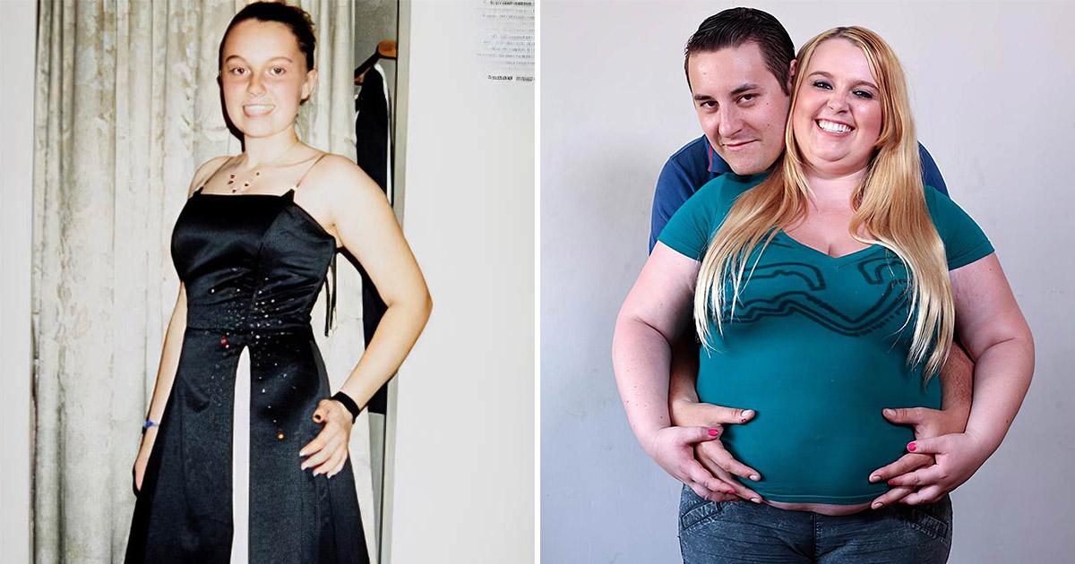 Ради своего парня девушка набрала 110 килограммов, питаясь через воронку