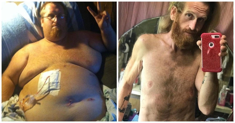 Уже попрощался с сыном. Мужчина победил лишний вес и начал новую жизнь