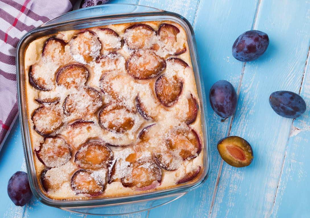 Рецепт приготовления клафути со сливами