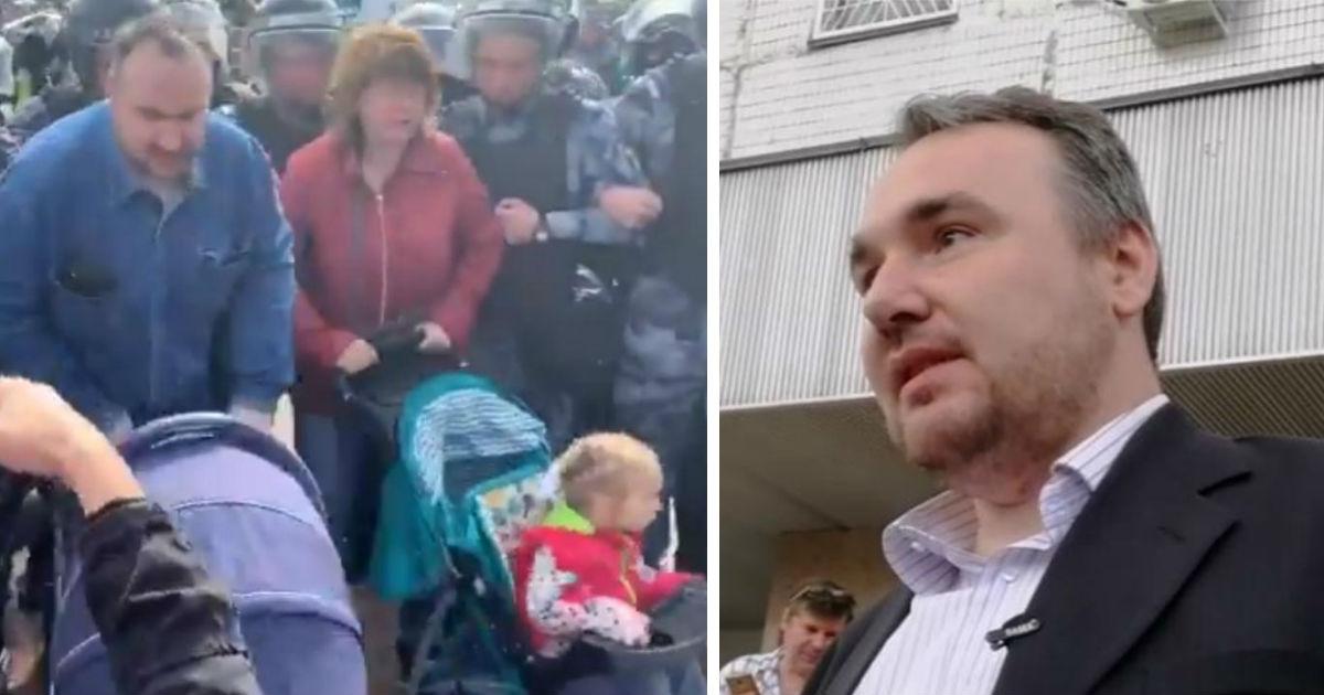 Фото В Москве суд отказался отбирать детей у пары, взявшей дочек на митинг