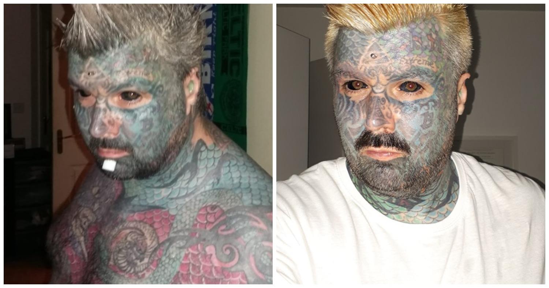 Самый татуированный мужчина в мире не может найти свою любовь