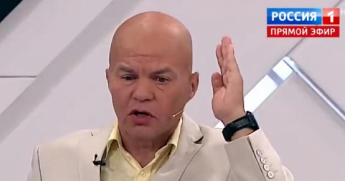 """Фото Украинского эксперта выгнали из студии """"России 1"""" за оскорбление"""
