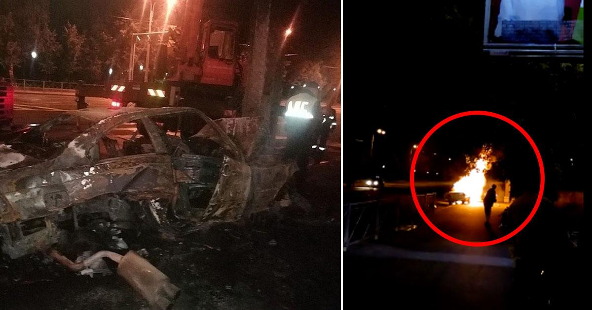 """Фото """"Если бы не они..."""" Питерские байкеры спасли людей из горящего BMW"""