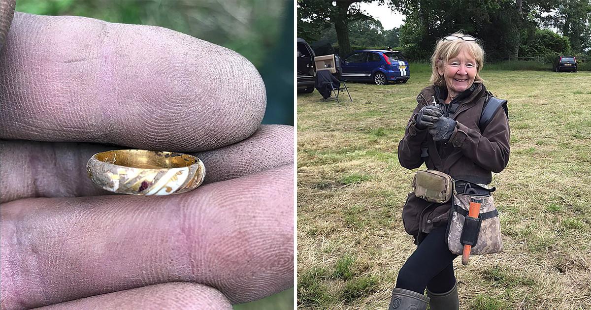 Фото Пенсионерка увлеклась кладоискательством и нашла кольцо времен Шекспира
