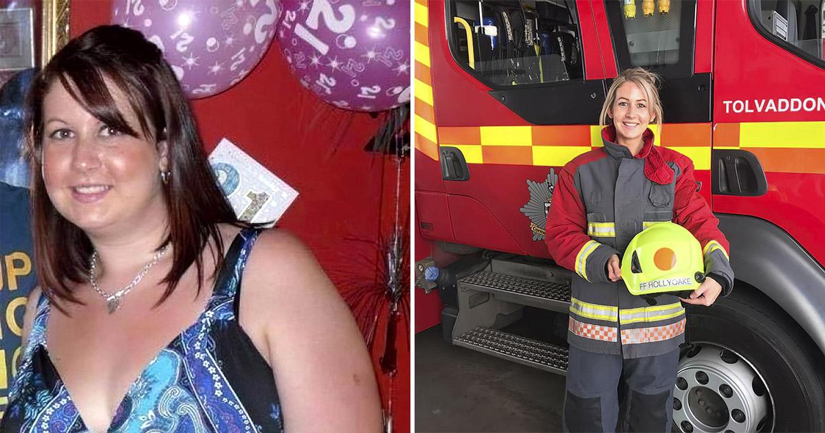Таких не берут в пожарные. Британка сбросила 40 кг ради работы своей мечты