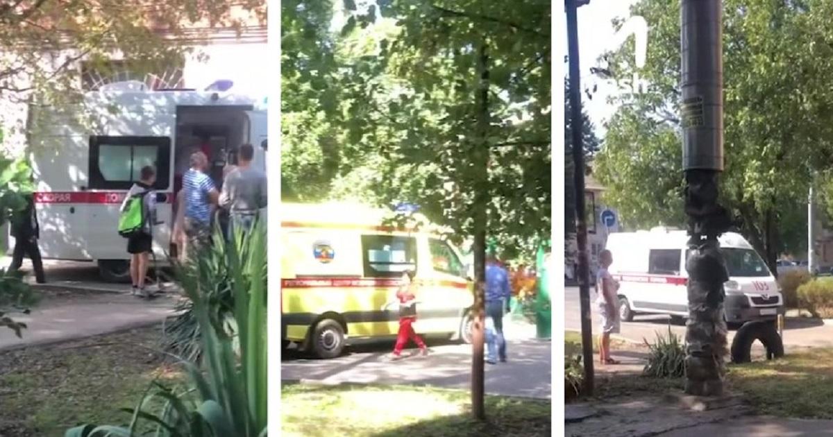 Фото В детсаду в Краснодаре дерево упало на двух детей и воспитательницу