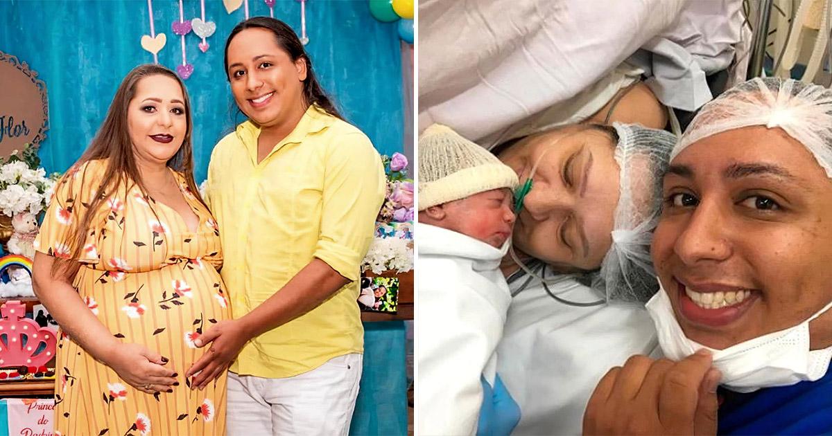 Фото Мама в беде не бросит. Бразильянка стала суррогатной матерью для сына-гея