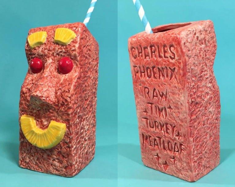 "Photo of Charles Phoenix's ""Raw"" Turkey Tiki Meatloaf Mug"