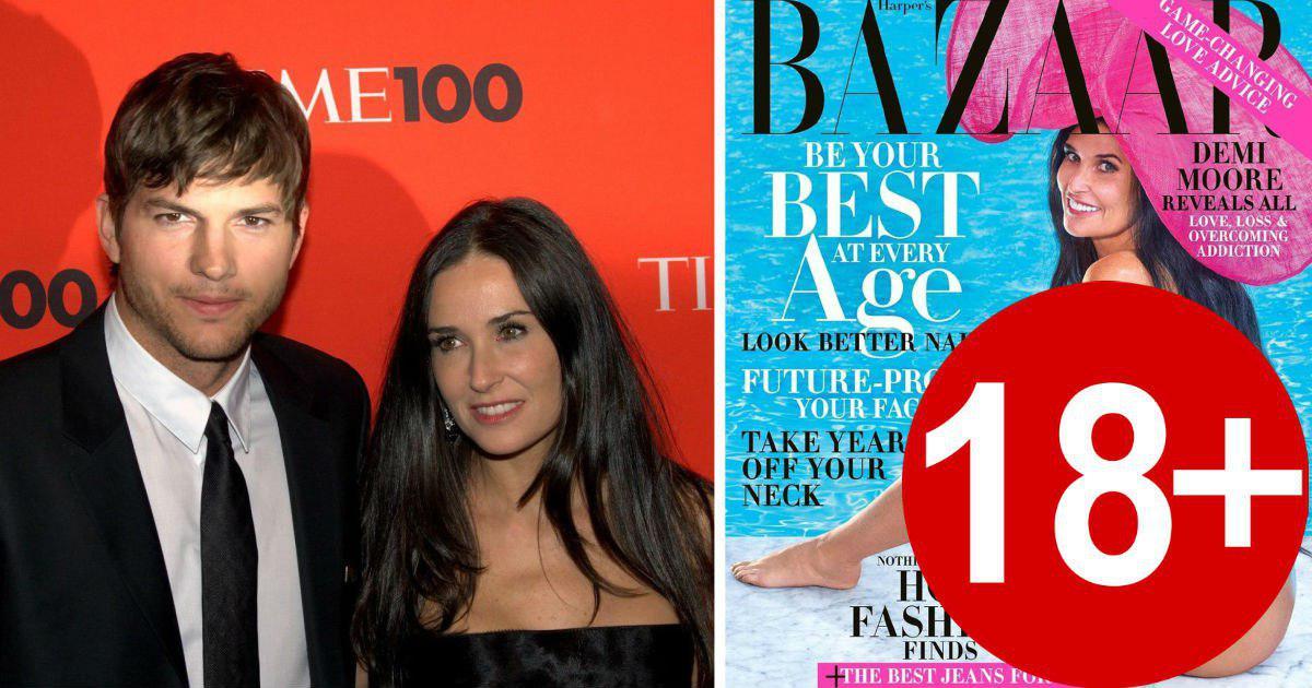 Фото Деми Мур в 56 лет снялась для Harper's Bazaar в одной шляпе
