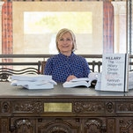 Hillary Clinton Reads Her Emails at Venice Art Show