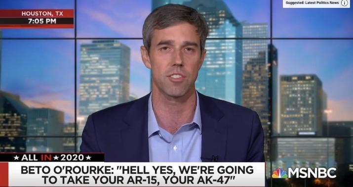 Photo of Beto O'Rourke: Police wouldn't go door to door to confiscate guns under my plan
