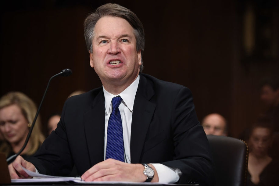 Photo of New York Times describes 'a penis in the face' as 'harmless fun' in tweet promoting Kavanaugh story