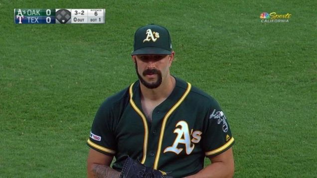 Photo of A's Pitcher Mike Fiers Was Dared To Shave His Beard Into A G-Shape