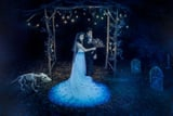 This Tim Burton-Themed Wedding Included a Drop-Dead-Gorgeous Vintage Wedding Dress