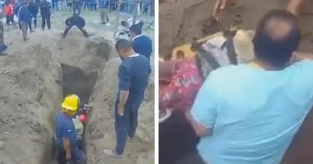 Маленькую девочку с собакой спасли со дна пятиметрового колодца
