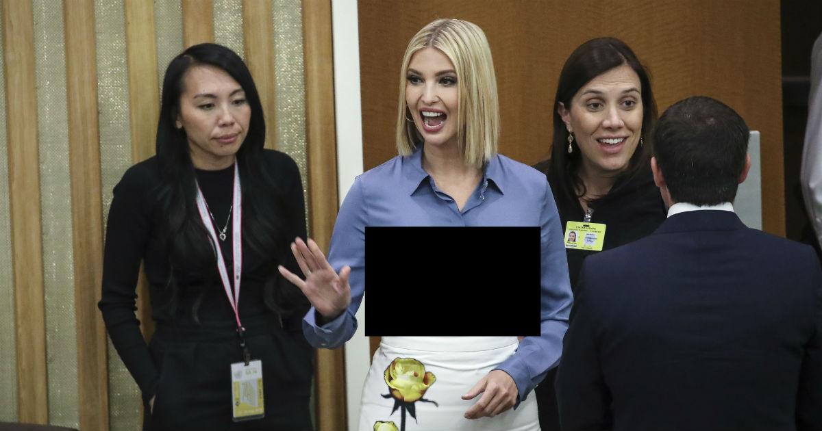Неудачная рубашка. Дочь Трампа показала лишнее в Генассамблее ООН