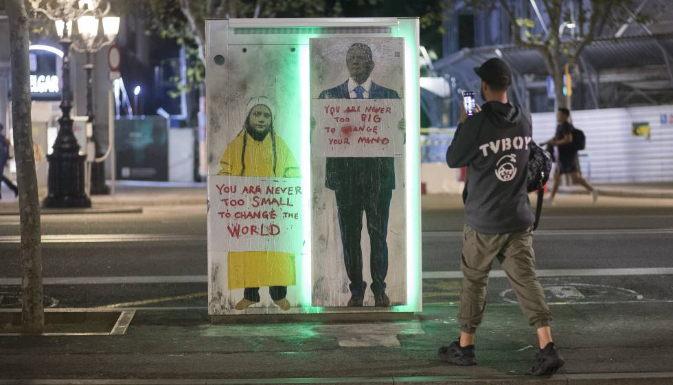 Photo of TvBoy confronta a Donald Trump y a Greta Thunberg en Barcelona