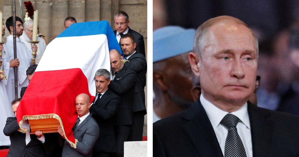Путин в Париже простился с Жаком Шираком (10 ФОТО)