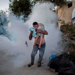 Riots Erupt at Greek Migrant Camp on Lesbos After Deadly Fire