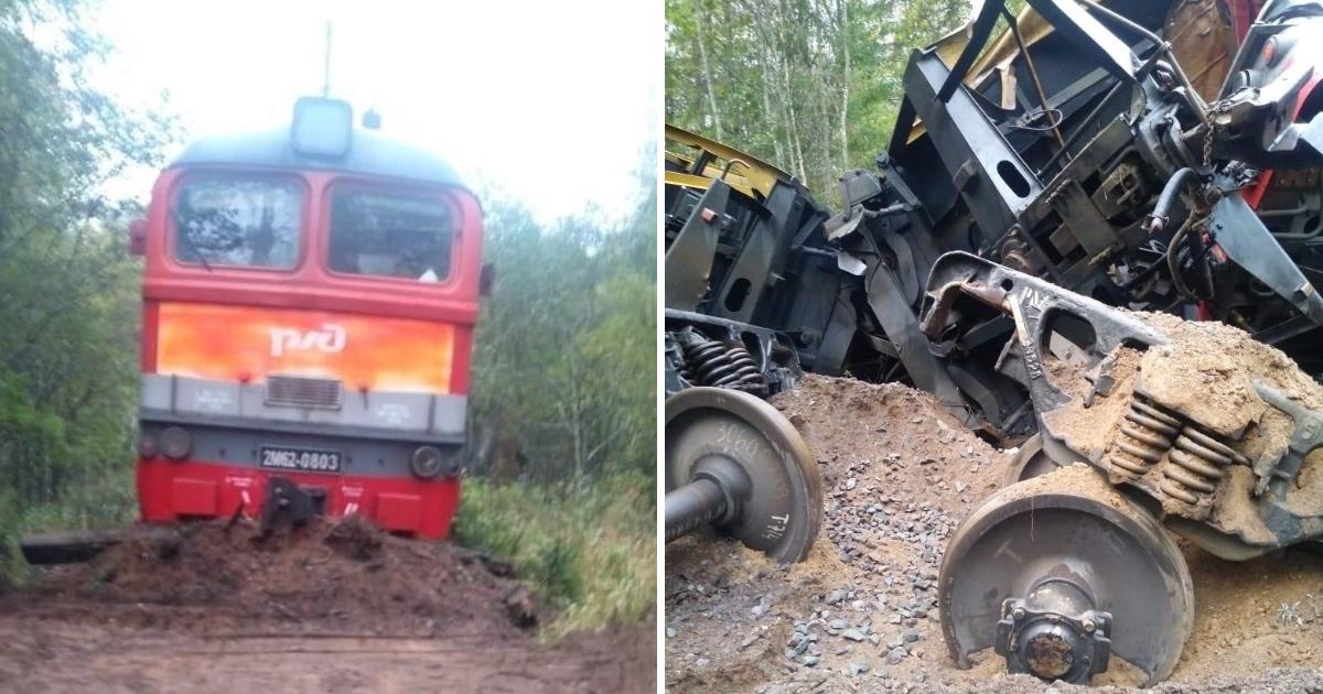 Фото Под Тверью поезд потерпел крушение, потому что кончились рельсы