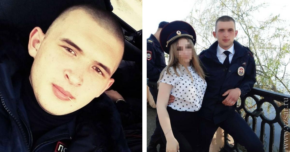 Фото Двое патрульных из Вольска pacпpaвилиcь с местным жителем