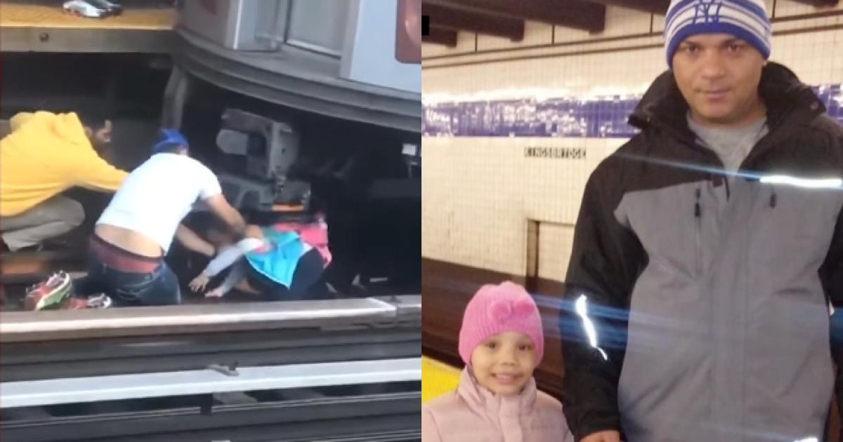 Фото Мужчина взял дочку на руки и шагнул под приближающийся поезд