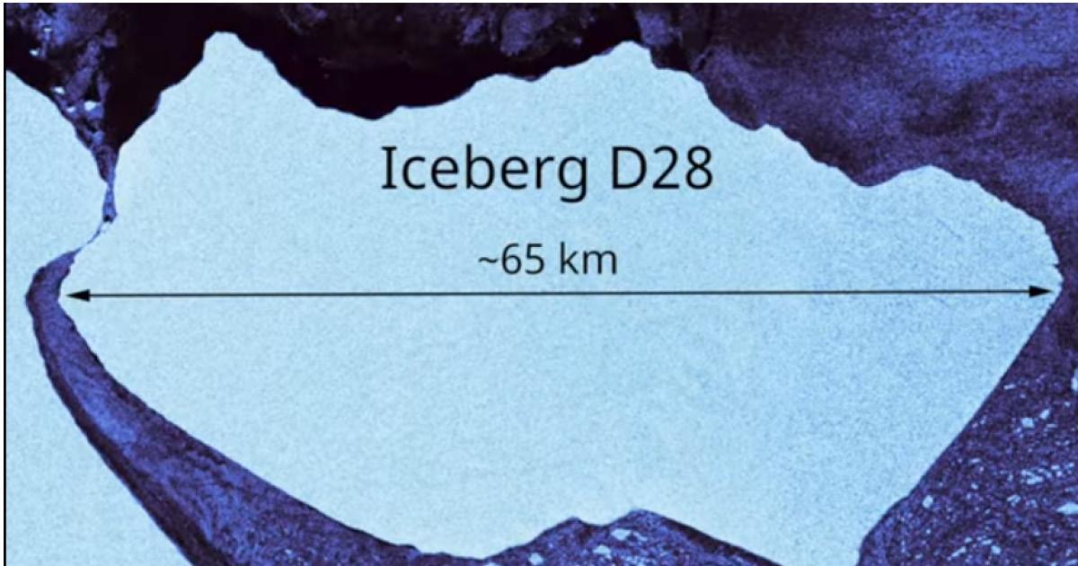 От ледника в Антарктиде откололся огромный айсберг. Новая угроза для кораблей