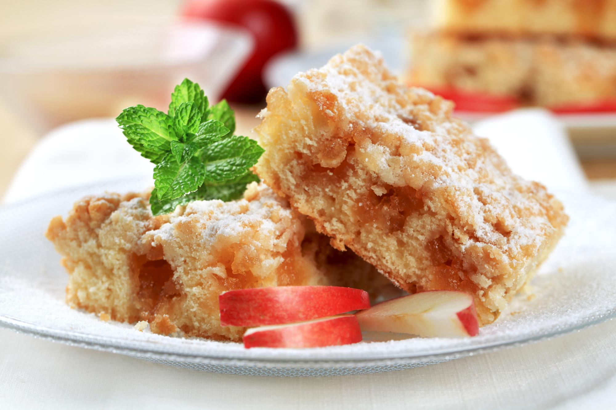 Яблочный пирог с крошкой