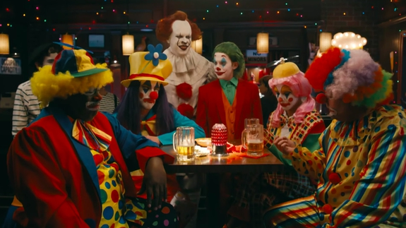 Photo of Joker and Pennywise aren't welcome with regular clowns in James Corden sketch