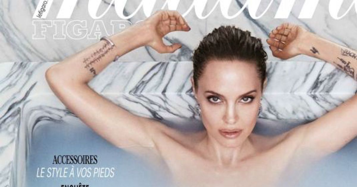 Джоли снялась в пикантной фотосессии и рассказала о пережитом разводе
