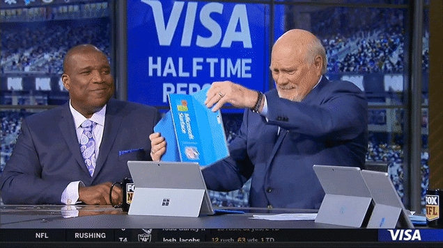 Photo of Terry Bradshaw Spills Coffee During Halftime Highlights, Makes A Big Ol' Mess