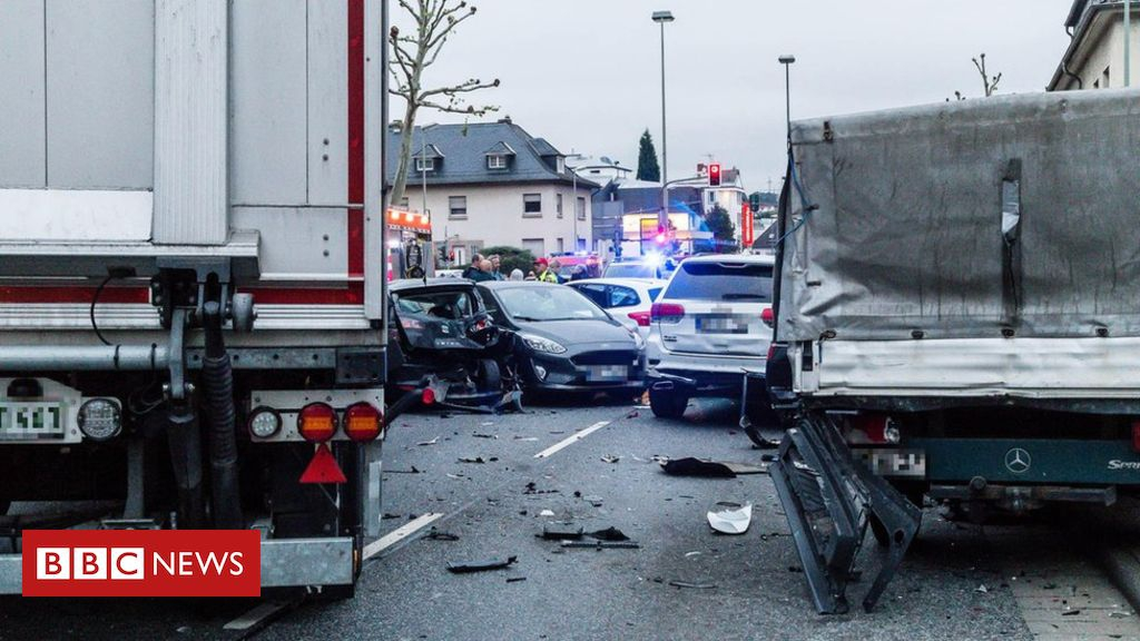 Photo of German lorry attack in Limburg seen as 'act of terrorism'