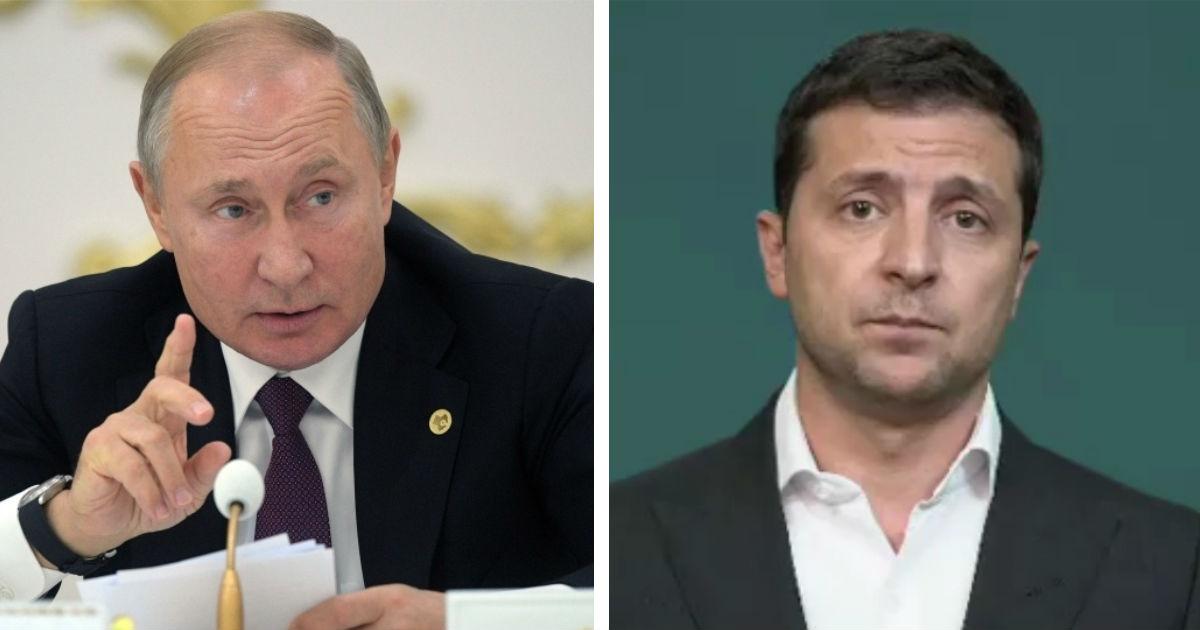 """Фото """"Ну не может"""": Путин при лидерах СНГ раскритиковал Зеленского"""