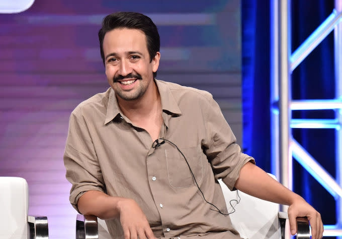 Photo of Lin-Manuel Miranda, Billy Porter Make Cameos in 'SNL' Cold Open Parodying LGBTQ Presidential Town Hall